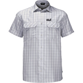 Jack Wolfskin Thompson t-shirt Heren, white rush checks